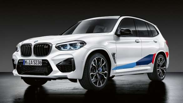 BMW X3M z akcesoriami BMW M Performance Parts.